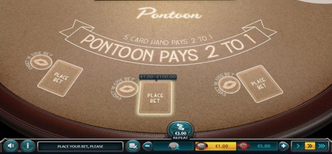 pontón de blackjack